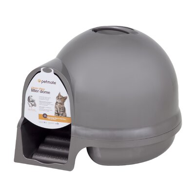 Halligan Dome Clean Step Litter Box Color: Brushed Nickel