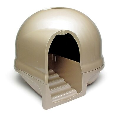 Dome Clean Step Litter Box Color: Titanium