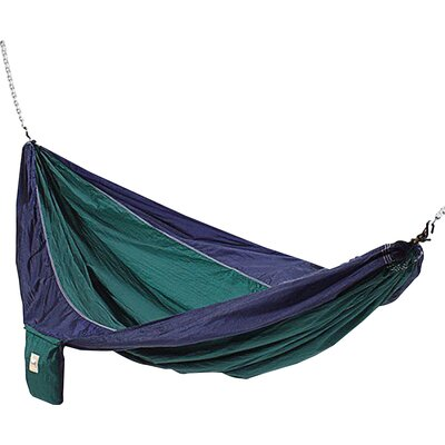 Parachute Nylon Camping Hammock Color: Blue / Green