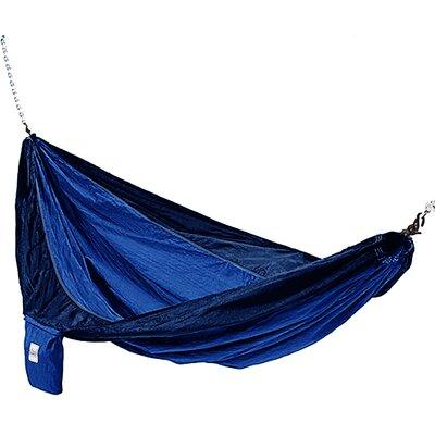 Parachute Nylon Camping Hammock Color: Dark Blue / Light Blue