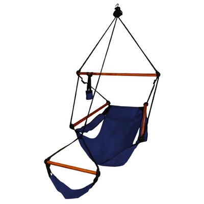 Original Polyester Chair Hammock Color: Midnight Blue, Dowels: Aluminum