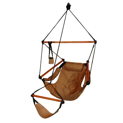 Original Polyester Chair Hammock Color: Natural Tan, Dowels: Wood