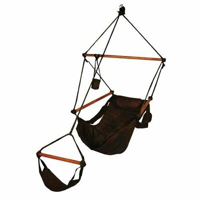 Original Polyester Chair Hammock Color: Jet Black, Dowels: Wood