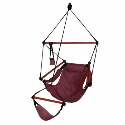 Original Polyester Chair Hammock Color: Burgundy, Dowels: Wood
