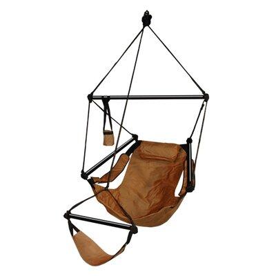 Original Polyester Chair Hammock Color: Natural Tan, Dowels: Aluminum