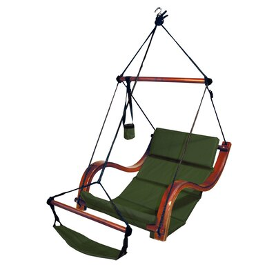 Nami Polyester Chair Hammock Color: Hunter Green