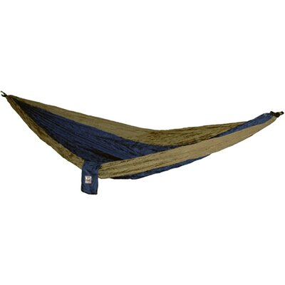 Parachute Nylon Camping Hammock Color: Blue / Brown