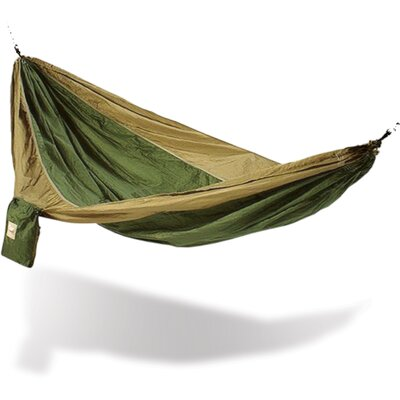 Parachute Nylon Camping Hammock Color: Army Green / Brown
