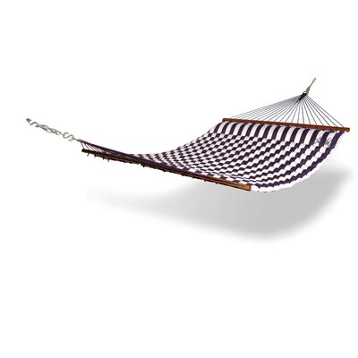 Striped Polyester Tree Hammock Color: Blue / White