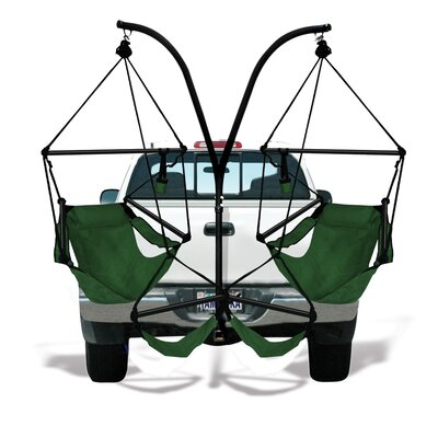 Trailer Hitch Stand Cotton Chair Hammock with Stand Color: Hunter Green, Dowels: Aluminum
