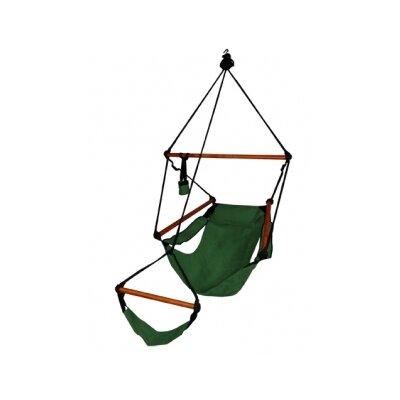 Original Polyester Chair Hammock Color: Hunter Green, Dowels: Aluminum