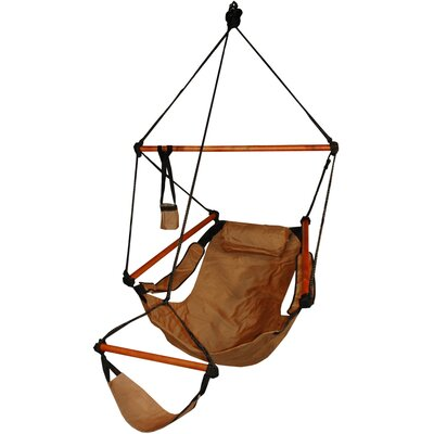 Original Polyester Chair Hammock Color: Natural Tan, Dowels: Aluminum