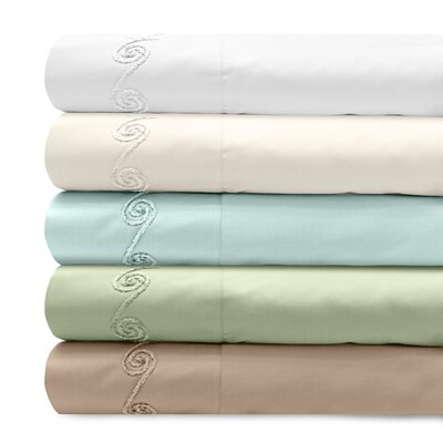 Supreme Sateen 300 Thread Count Cotton Pillowcase Size: Standard, Color: Ivory