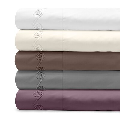 Supreme Sateen 800 Thread Count Cotton Pillowcase Color: Espresso, Size: King