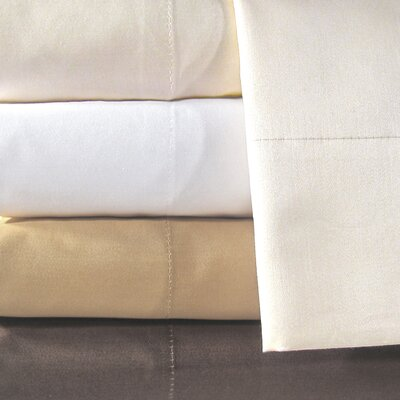 Supreme Sateen 800 Thread Count Pillowcase Color: Ivory, Size: Standard
