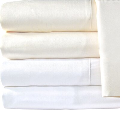 Supreme Sateen 1200 Thread Count Pillowcase Color: Ivory, Size: King