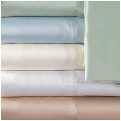 Supreme Sateen 300 Thread Count Solid Pillowcase Color: Ivory, Size: King