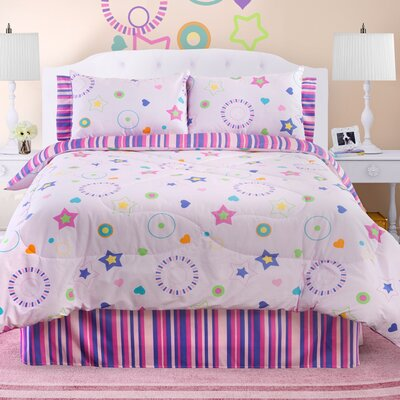 Glow in The Dark Star Dance Comforter Set Size: Twin