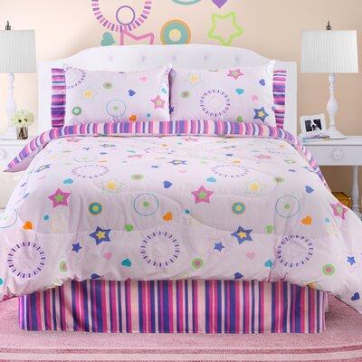 Glow in The Dark Star Dance Comforter Set Size: Full