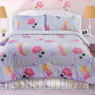 Glow in The Dark Fairy Light Comforter Set Size: Queen