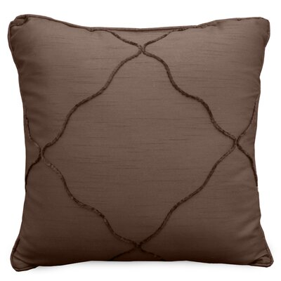 Diamonte Throw Pillow Color: Chocolate