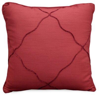 Diamonte Throw Pillow Color: Merlot