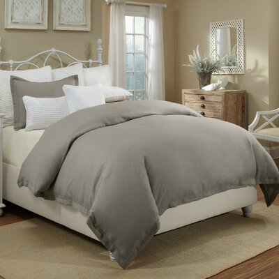 Joshua Duvet Cover Set Size: Full/Queen, Color: Gray