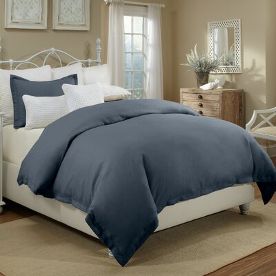 Joshua Duvet Cover Set Color: Indigo, Size: King