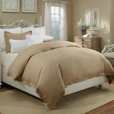 Joshua Duvet Cover Set Color: Sand, Size: King