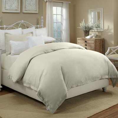Joshua Duvet Cover Set Color: Linen, Size: King