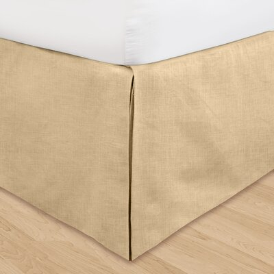 Fleuristes 3 Piece Adjustable Bed Skirt Set Size: California King, Color: Khaki