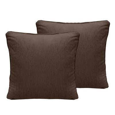 Brownsburg Chenille Euro Pillow Color: Brown Stone