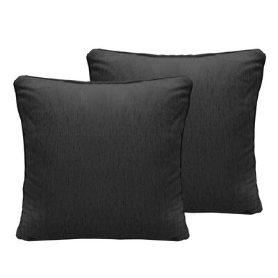Luxe Chenille Euro Pillow Color: Charcoal