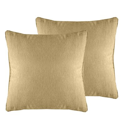 Brownsburg Solid Chenille Throw Pillow Color: Wheat