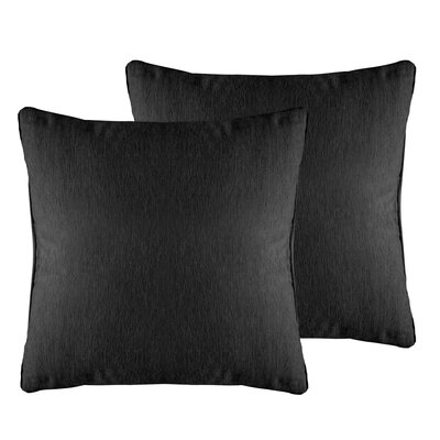 Brownsburg Solid Chenille Throw Pillow Color: Charcoal