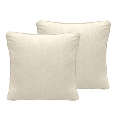 Luxe Chenille Euro Pillow Color: Ivory