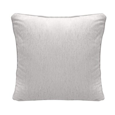 Brownsburg Square Chenille Throw Pillow Color: White