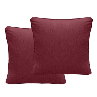Brownsburg Chenille Euro Pillow Color: Sangria