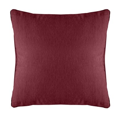 Brownsburg Modern Chenille Euro Pillow Color: Burgundy