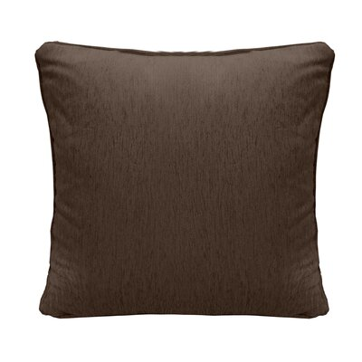 Brownsburg Square Chenille Throw Pillow Color: Brown