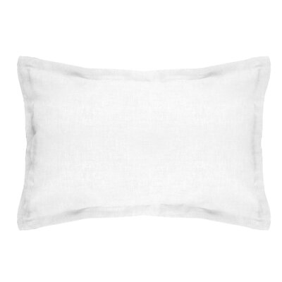 Brownstown Linen Boudoir Pillow Color: Optical White