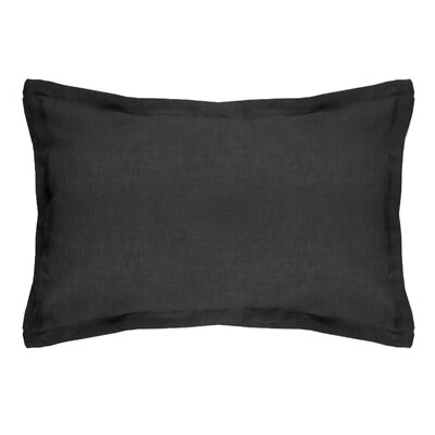 Brownstown Linen Boudoir Pillow Color: Black