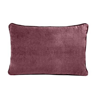 Ted Velvet 100% Cotton Boudoir Pillow Color: Rosewood