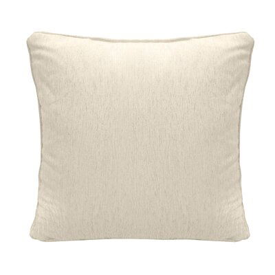 Brownsburg Square Chenille Throw Pillow Color: Cream
