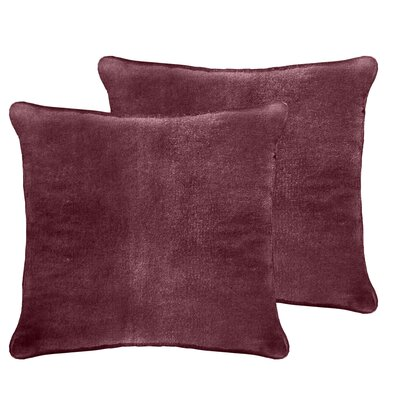 Luxury Velvet Euro Pillow Color: Berry