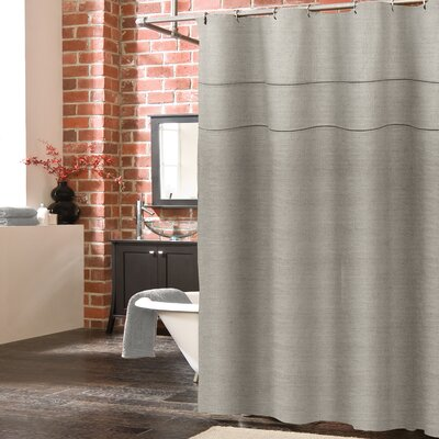 Blaisdell Linen Shower Curtain Color: Gray