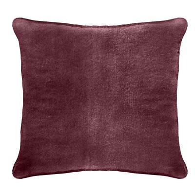 Ted Velvet 100% Cotton Euro Pillow Color: Ruby