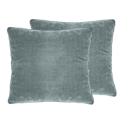 Ted Velvet Throw Pillow Color: Blue Smoke