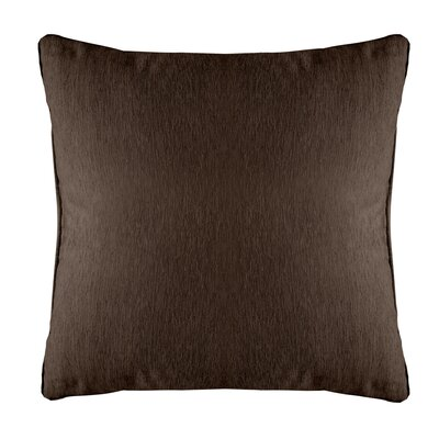 Brownsburg Modern Chenille Euro Pillow Color: Brown