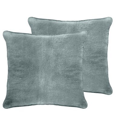 Ted Velvet Euro Pillow Color: Blue Smoke